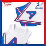 Healong 치마를 가진 도매 Cheerleading 제복을 인쇄하는 최신 판매 운동복 디지털