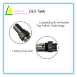 El tanque de petróleo de cristal de Cbd del cartucho de las bobinas de la libertad 510 de la pluma dual de Vape