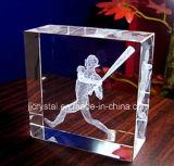 3D Gepersonaliseerde Giften van de Rechthoek van het Kristal van de Gunsten van het Huwelijk van de Foto van de Laser Blok