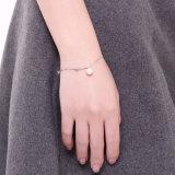 925 de echte Shell van de Manier van de Armband van het Staal Roze Ketting van de Kabel van de Armband van de Parel Jonge Zilveren