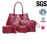 Neue Ankunfts-Schultaschen-Frauen-Beutel 4 gesetzter PU-Freizeit-Beutel (LDO-15500)