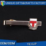 Personalizar los clips de lazo de encargo del metal del chapado en oro con insignia redonda