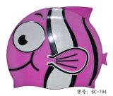 Colorfulworldstore Karikatur, die Swim-Schutzkappen-Hut der Schutzkappe-Reizenden Fisch-Silikon-Schwimmen Schutzkappe-Kinder schwimmt