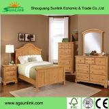 Insiemi naturali della mobilia della camera da letto di legno solido della noce (SET002)
