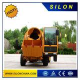 Camion portatif hydraulique Self-Loading mobile de mélangeur concret de la colle de mini jardin