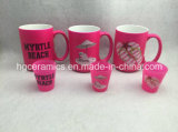 15oz de neón de color taza, taza de color rosa