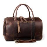 Дизайн в стиле ретро коричневый Crazy Horse кожаная сумка Duffle для Отдыхаюших