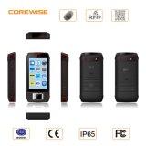 Smartphone antipoussière avec l'IDENTIFICATION RF biométrique de lecteur d'empreintes digitales et d'à haute fréquence