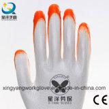 Нитриловые полиэфирная пленка с покрытием труда оболочки защитные перчатки (N005)