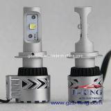 bulbos do feixe do jogo H7 do farol do diodo emissor de luz do CREE de 6000lm 72W baixos