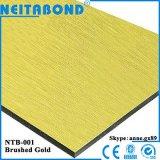 Панель цены Neitabond 3mm 4mm почищенная щеткой серебром алюминиевая составная (ACP)