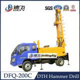 200m Dfq-200cのDTHのハンマーおよびビットの井戸の掘削装置が付いている地下水のためのトラックによって取付けられる装備機械