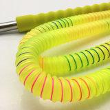 boyau acrylique jaune de Shisha de narguilé de 1.8m avec l'embouchure en verre (ES-HH-011-1)