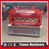 Rodillo de acero de la cubierta del material de construcción que forma a surtidor de la máquina
