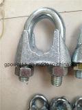 Clip de câble métallique du zinc DIN 741 de bâti