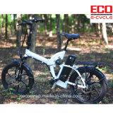 La bicicleta eléctrica plegable con la batería de litio absorbe el tipo