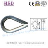 Aço carbono galvanizado DIN6899b dedal para fio