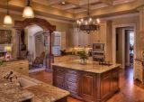 Kundenspezifischer festes Holz-Qualitäts-Standardküche-Schrank #1304251