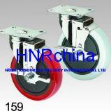 Roter Belüftung-Rad-Schwenker mit Verriegelungsplatten-Oberseite-Fußrolle