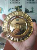 Vide argenté d'or en plastique métallisant le matériel