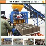 Qt4-24 Planta de bloco de cimento / máquina de fabricação de blocos de concreto móvel