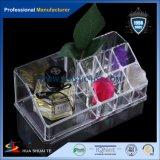 Rectángulo cosmético del organizador del precio de la alta calidad de la promoción del regalo del maquillaje de acrílico plástico barato del claro