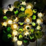 Indicatore luminoso di vetro del pendente della bolla saltato sfera magica variopinta moderna 12V G4 LED dell'acquazzone di meteora