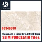 El color gris 5.5m m 400X800mmlamina de Frech adelgaza el azulejo de la porcelana de la porcelana