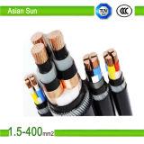 0.6/1kv XLPE/ PVC elétricos isolados com cabo de alimentação DC