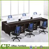 Estação de trabalho do escritório de 6 Seaters com a tabela da parte superior de uma espessura de 45 milímetros