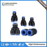 L'hydraulique et type du système pneumatique Y ajustant le connecteur rapide pneumatique