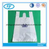Sac à provisions en plastique de transporteur compostable de gilet de 100%