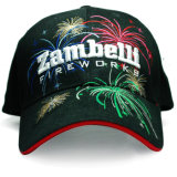 Rinestuds Patched Embroidery Print Emblem Twill Leisure Baseball Cap (TRB048)