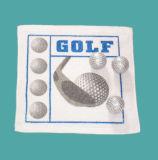 100%年の綿のゴルフデザイン圧縮されたタオル(YT-614)