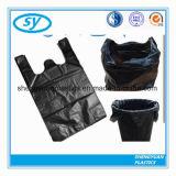 Bolso de basura plástico del HDPE de las bolsas con la maneta