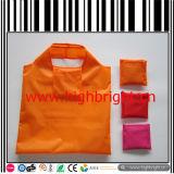 Polyester-Gewebe gedruckter faltbarer Einkaufen-Handbeutel