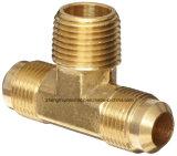 Encaixe de câmara de ar de bronze da compressão dos metais, união, T