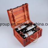 Коробка подарка высокого качества естественная деревянная с мягкой подкладкой