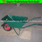 Carrinho de mão de roda plástico Wb3500 do Wheelbarrow com 3 rodas