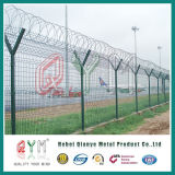 El aeropuerto de recubiertos con PVC / Valla valla de la cárcel de malla de alambre soldado