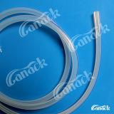 Canos redondos descartáveis de silicone e canais fluidos
