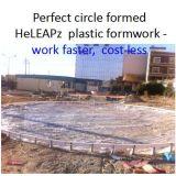 Garten-Bürgersteig-Plastikverschalung-Arbeit schneller, Kosten weniger, Leichtgewichtler, mehrfachverwendbare Bürgersteig-Verschalung