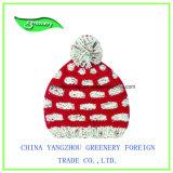 素晴らしい子供のEarflapの刺繍の冬のニットの帽子