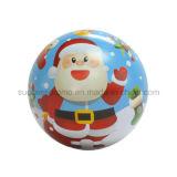 Grosse Größen-Kugel-geformter Weihnachtsgeschenk-Metallzinn-Kasten für das Verpacken