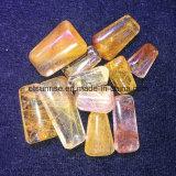 Pingente de pingente de cristal de quartzo natural com pedras preciosas naturais