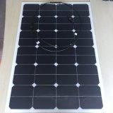 los paneles solares baratos flexibles China 50W 60W 100W de la célula solar de 80watt 27V