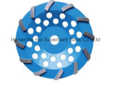 Roue simple de cuvette de diamant de Turbo pour la préparation concrète d'étage