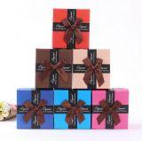 Factory Direct Creative Paper Caixa de Natal com Nice Bowknot para Presente Pequeno, Caixa de Jóias de Embalagem, Caixa de Relógio