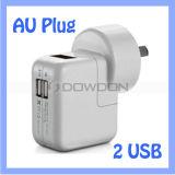 Rundes Au Großbritannien wir multi Stecker 5V gab Aufladeeinheit USB-2 für Samsung S7/iPhone 7/iPad Luft aus