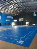 Badminton d'intérieur/extérieur de PVC folâtre l'étage de cour